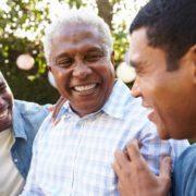 3 men doing speech therapy