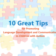 jigsaw puzzle image discussing the promotion of language in children with autism
