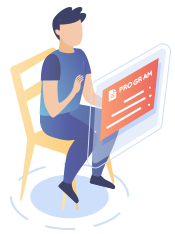 illustration of a boy sitting in front of a computer screen and an online speech therapist