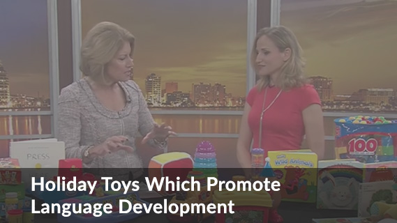 YouTube Video about Holiday toys which promote language