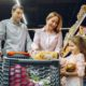 a family at the supermarket