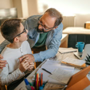 a boy and father with an executive functioning disorder