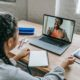 learning at home on a laptop in regards to memory and speech